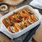 Scopri la ricetta del tian di zucca e formaggio di capra proposta da Sale&Pepe.