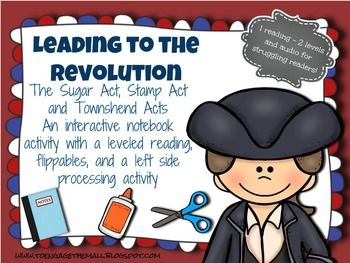 Leading to the American Revolution: Interactive Notebook a