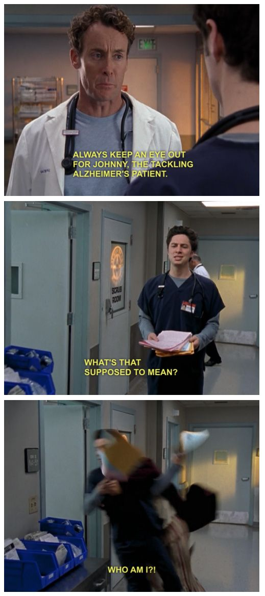 Johnny the tackling Alzheimer's patient. | Scrubs