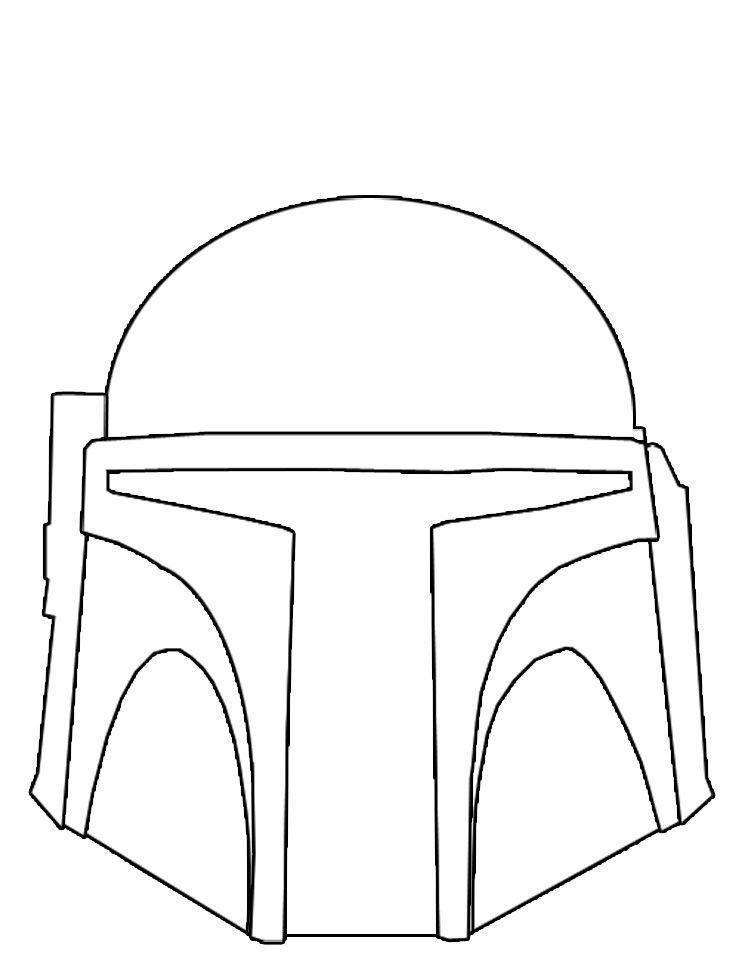 Boba Fett Helmet Coloring Page Boba Fett Helmet Mandalorian Helmet Star Wars Drawings