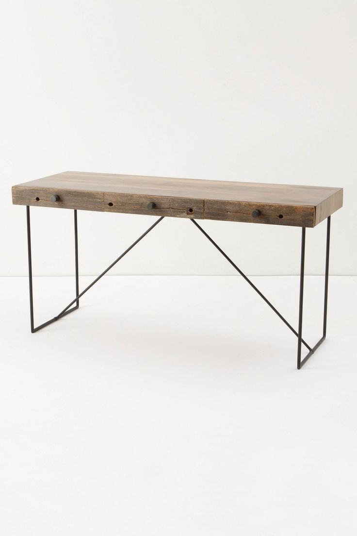 Bodhi Desk from Anthropologie: Anthropology Desks, Wood Furniture, Daybeds Ideas, Woody Furniture, Metals Legs, Bodhi Desks, Anthropologie Com, Industrial Design, Wood Planes