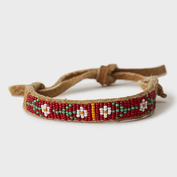 Flat Bead & Leather Bracelet