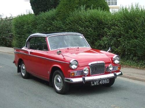 "1966 Sunbeam Rapier MKV Coupe. Features"" 1725cc upgrade engine."