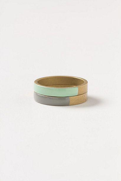 turquoise and grey: Vanward Enamel, Stacked Rings, Anthropologie Com, Enamel Ring Repin, Rings Anthropologie, Enamels, Anthro Ring