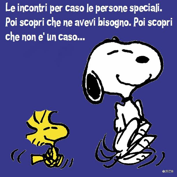 You meet them special people. Then you discover that you needed it. Then you discover that it was not a case   .......................Definizione di amicizia  ....................Definition of friendship