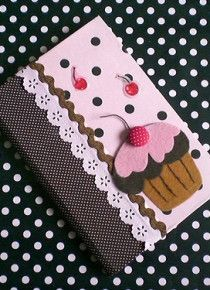 Caderno Decorado Com Tecidos