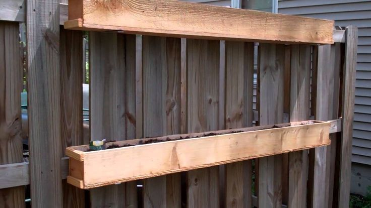 Fence Mounted Garden Boxes   YouTube