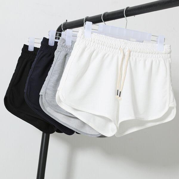 Женская летний спорт свободного покроя шорты дамы работает 2015 новых корейских мода женский сплошной цвет шорты бесплатная доставка