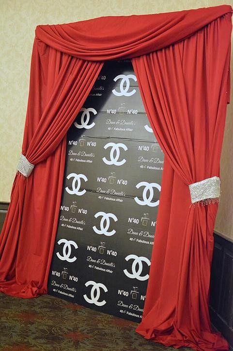 Custom Chanel Style 9ft Photo Backdrop - Chic Posh Event Designs - 1