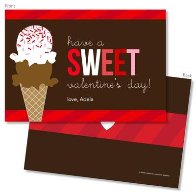 Sweet Scoop Valentine Exchange Cards