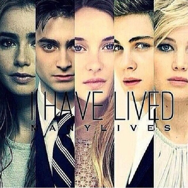 I have lived many lives. Divergent | the hunger games | Percy Jackson | the fault in our stars | Harry potter | theo James | Shailene Woodley | Jennifer Lawrence | books