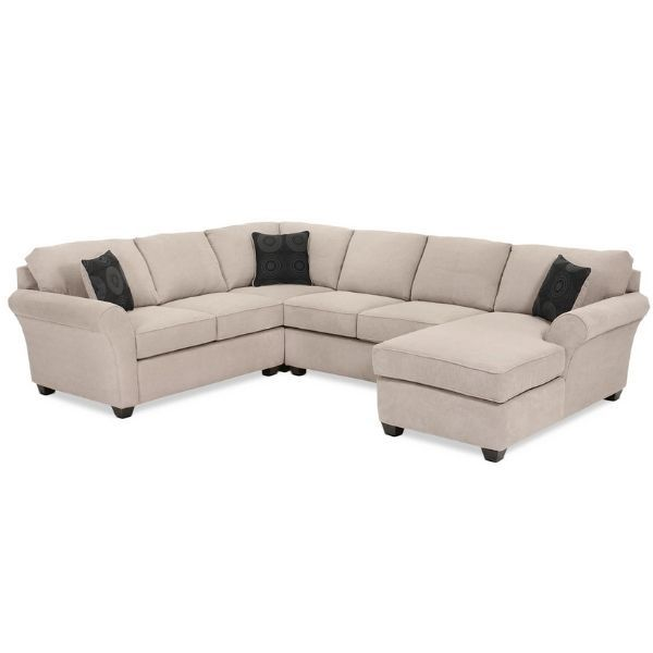 Althea 4 Piece Sectional With Right Facing Chaise Mocha In 2020