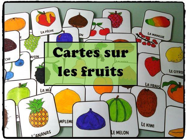 cartes fruits, montessori, activités enfants