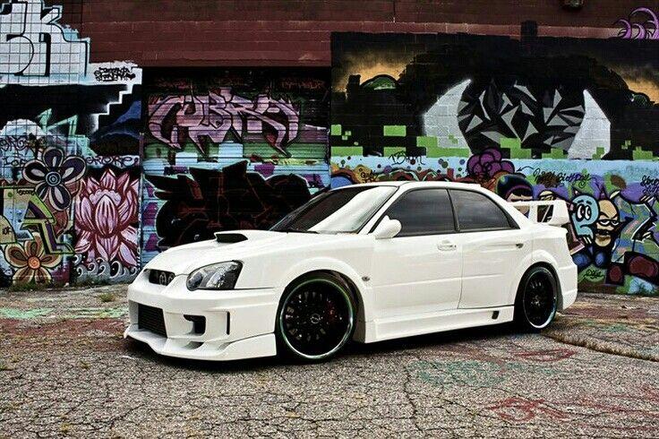 White Subaru with black wheels My SuBiE Garage