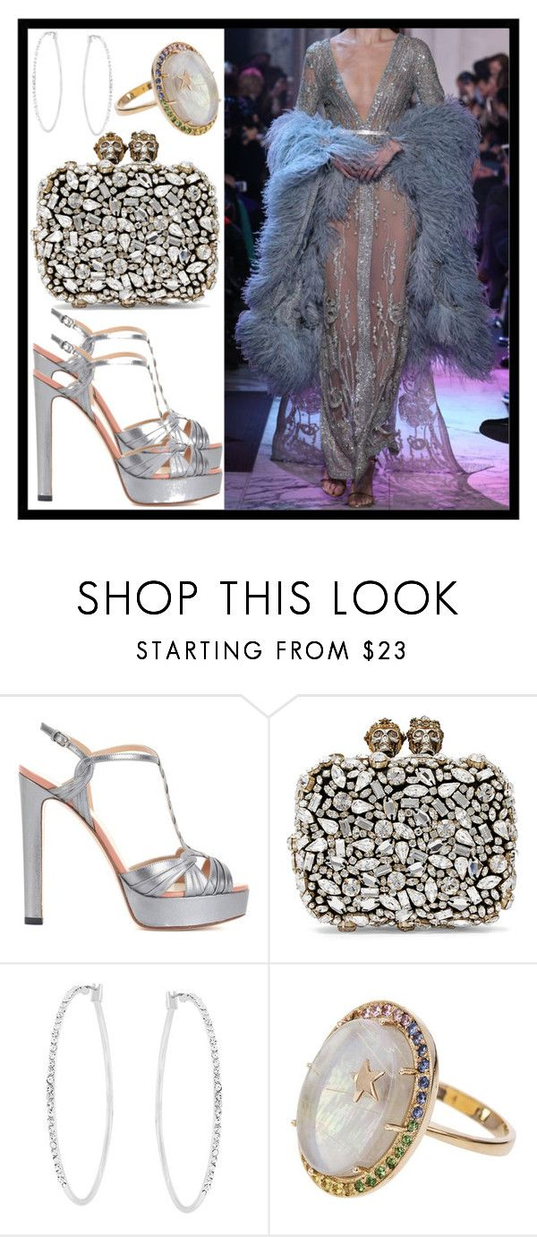 """""""Red carpet queen Grammy version"""" by vikinita ❤ liked on Polyvore featuring Elie Saab, Francesco Russo, Alexander McQueen, Kate Bissett and Andrea Fohrman"""