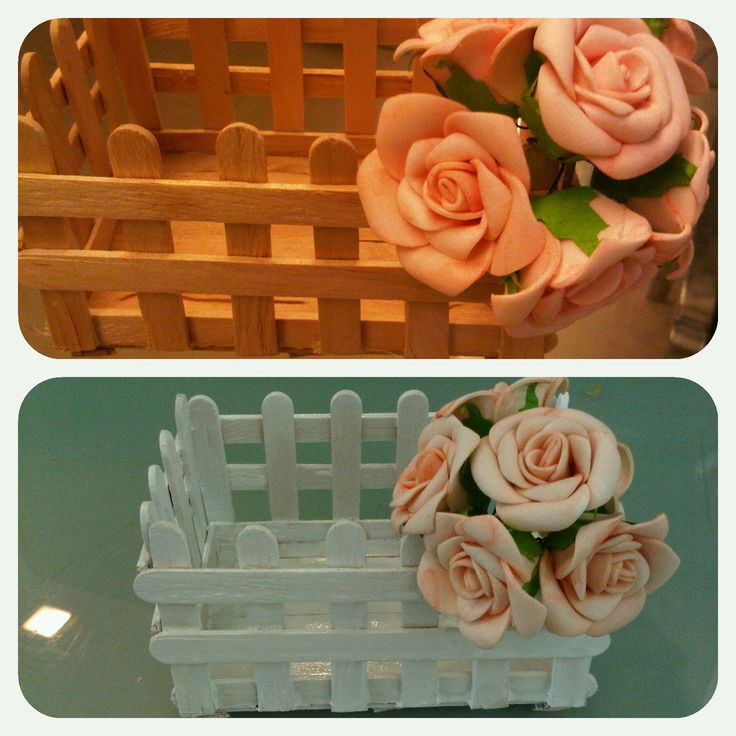 Popsicle stick craft #before after #white