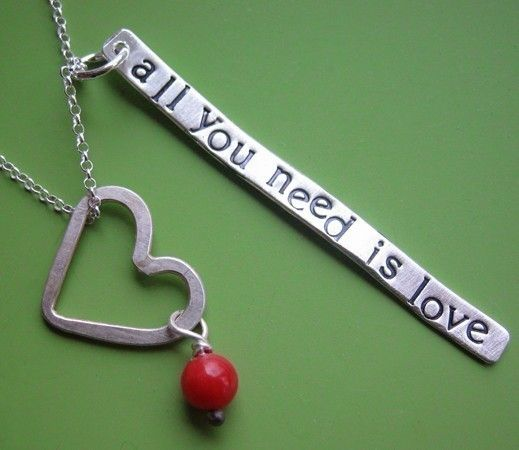 All You Need is Love Necklace by sudlow on Etsy