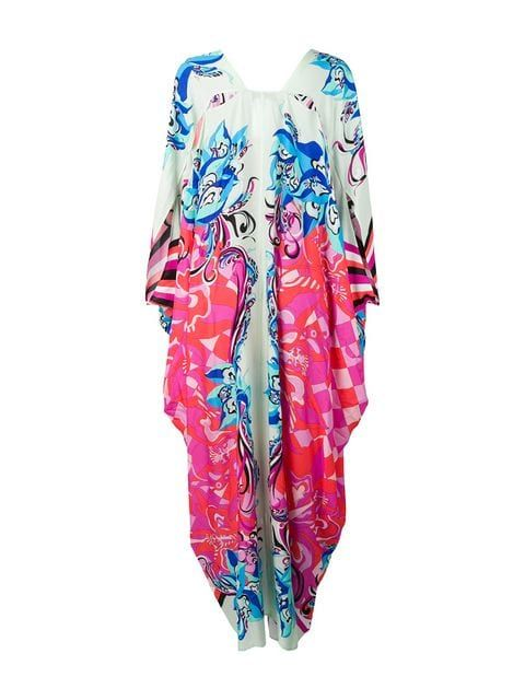 14cc74c486 Emilio Pucci Pink Merida Print Beach Kaftan $1,040 - Buy Online - Mobile  Friendly, Fast Delivery, Price