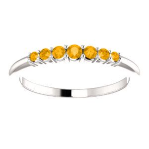 Celebrate November Birthdays with this Citrine Stackable Ring. Click through for product details OR to locate a jeweler near you! #HBDNovember #HowIStuller