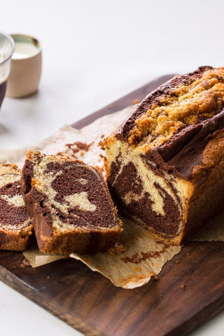 Swirls of chocolate and vanilla sponge make this stunning marble cake recipe too enticing to resist.
