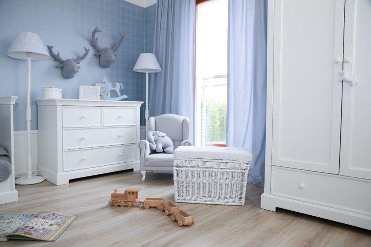 Pokój chłopca w tonacji delikatnego błękitu z elementami kolekcji francuskiej Caramella.pl Stwórz z nami wyjątkowy pokój swojego dziecka