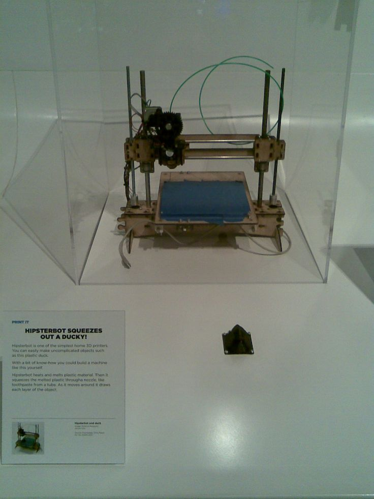 The first 3D printer, called Hipsterbot (yes, really).  It was 3D printing before everybody else, and it only prints in Camden.