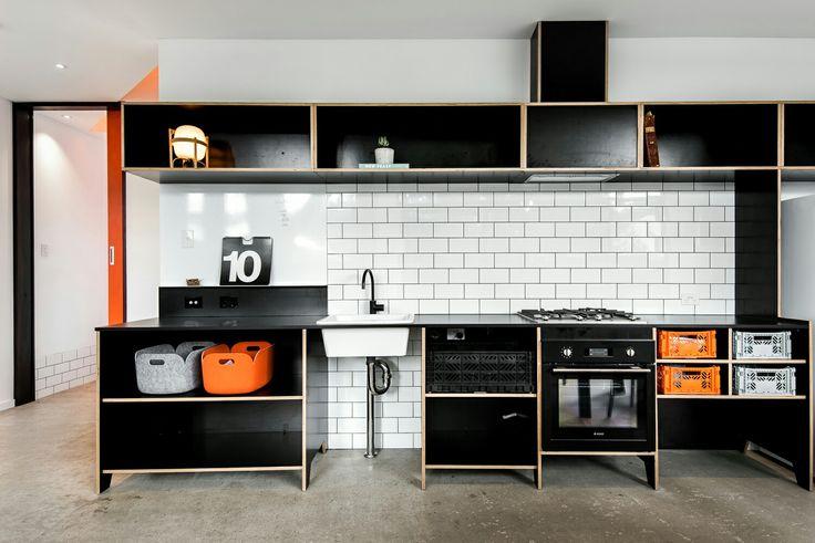 Black MAXI Film Birch plywood Kitchen joinery