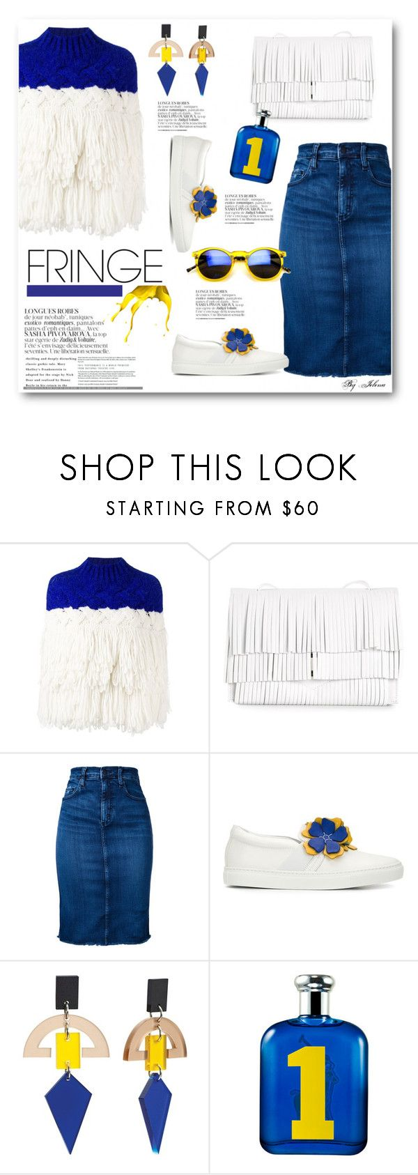 """""""Shimmy Shimmy: Fringe"""" by jelenalazarevicpo ❤ liked on Polyvore featuring Delpozo, Proenza Schouler, Nobody Denim, Lanvin, Toolally and Ralph Lauren"""