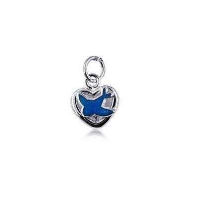 Pendant - I HEART BLUEBIRDS - Sterling Silver