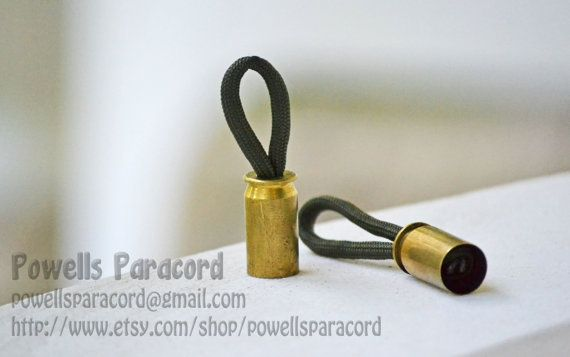 Ever get frustrated with a small metal zipper? Add these 45 Auto shell casing paracord zipper pulls to any zipper - and pull with ease! Sold in