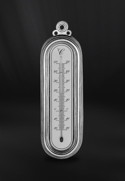Pewter Thermometer - Height: 22,5 cm (8,8″) - #pewter #wall #thermometer #peltro #termometro #parete #zinn #wand #thermometer #étain #etain #thermomètre #mural #peltre #tinn #олово #оловянный #gifts #giftware #home #housewares #homewares #decor #design #bottega #peltro #GT #italian #handmade #made #italy #artisans #craftsmanship #craftsman #primitive #vintage #antique