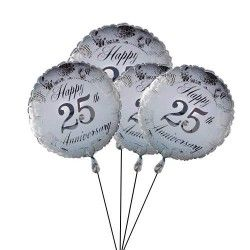 send Silver Jubilee Anniversary #Balloons to Your Parents In #UK