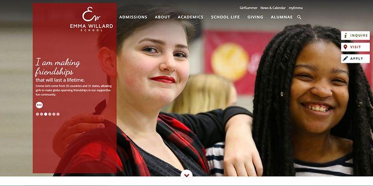 The school website trend of banner imagery displayed on Emma Willard School.