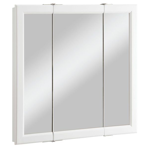 Searle Surface Mount Framed 3 Door Medicine Cabinet With 2
