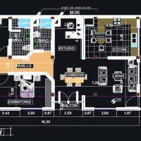 7 planos de casas prefabricadas económicas con medidas