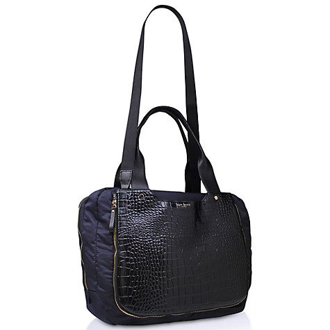 Buy Kurt Geiger Leather Mix Tote Bag, Black / Blue Online at johnlewis.com