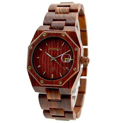 XLORDX Holzuhr Herren Braun Datum Armbanduhr Herrenuhr aus Holz Freund Ehemann Geschenk Gift Watch - http://on-line-kaufen.de/xlordx/xlordx-holzuhr-herren-braun-datum-armbanduhr-aus