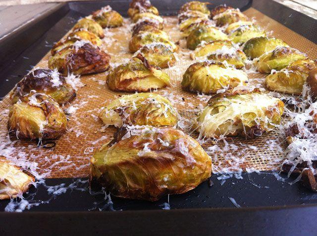 roasted-garlic-lemon-brussels sprouts: Reggiano Recipe
