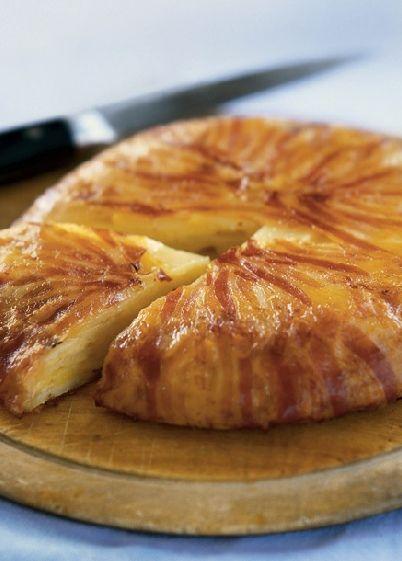 Low FODMAP Recipe and Gluten Free Recipe - Potato, cheese & bacon pie