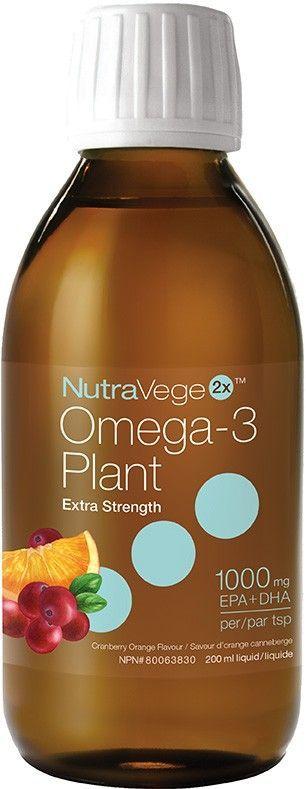 NutraVege2x Extra Strength Orange Cranberry   200 ml   Liquid Omega-3