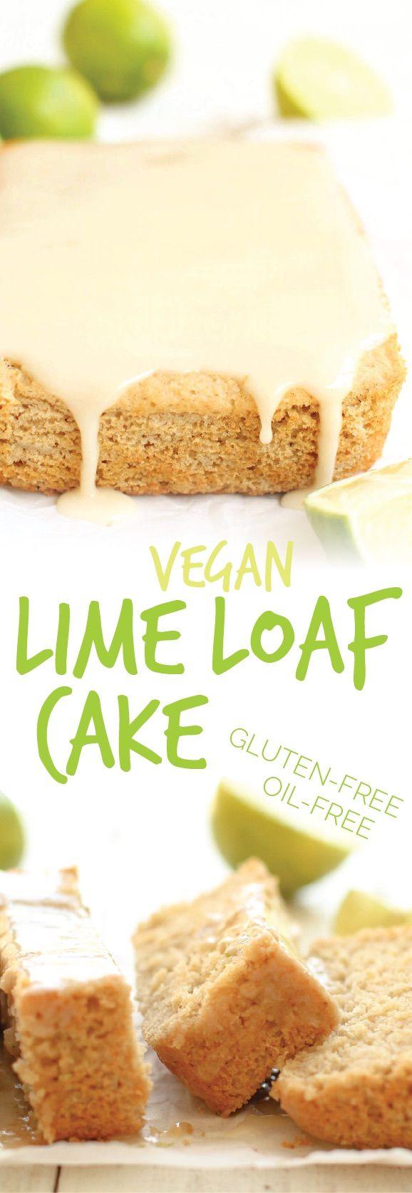 Vegan Lime Loaf Cake ---- gluten-free, vegan