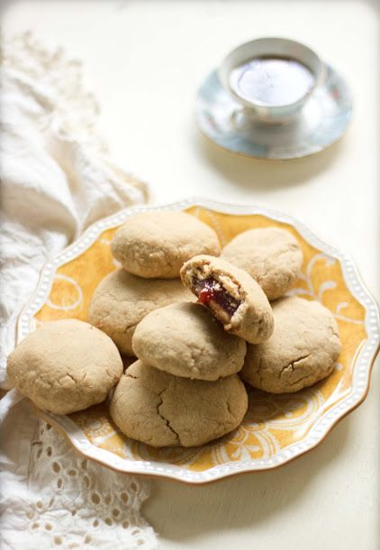 Just the right combination of sweet and fruity! Guava filled shortbread cookie recipe here...