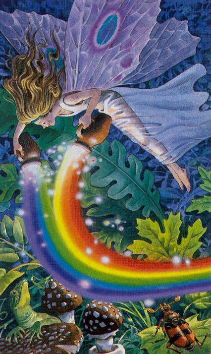 The Sylph (Temperance) - Fairy Tarot (Antonio Lupatelli)