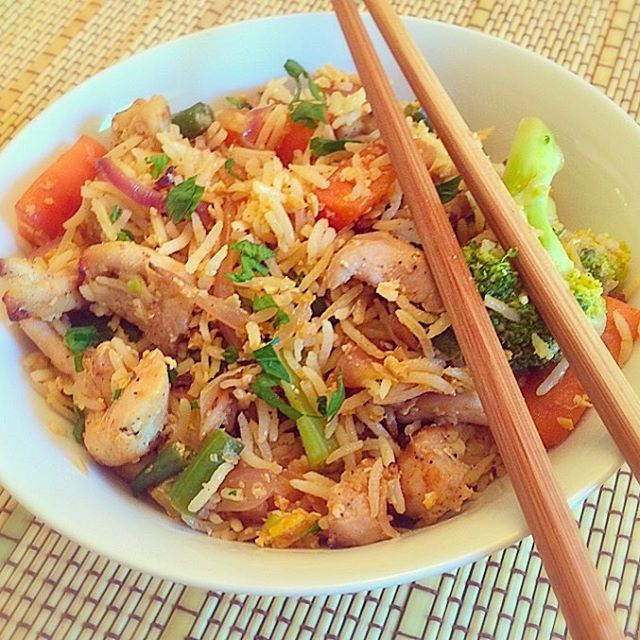 Learn how to make your favourite restaurant style chicken fried rice in quick and simple steps with no fuss at your home and enjoy with your family.
