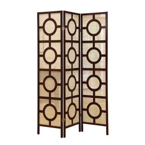 monarch specialties folding screen room divider i 3 panel folding screen room divider with circle design