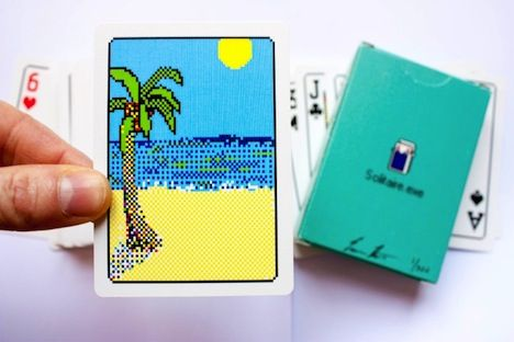 Design Nostalgia: Solitaire.exe becomes real playing cards by artist Evan Roth / evan-roth.com