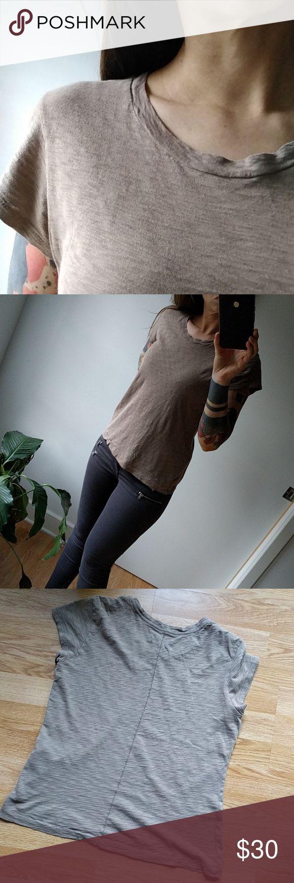 Rag and bone beige tee shirt [Host Pick] Like new, nice fabric with zero signs of wear. rag & bone Tops Tees - Short Sleeve
