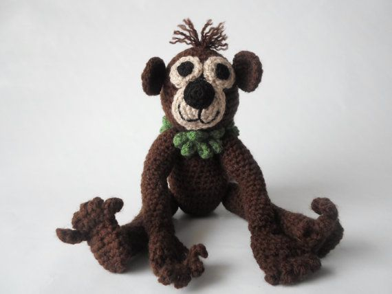 Monkey Amigurumi Crochet Stuffed Toy Animal
