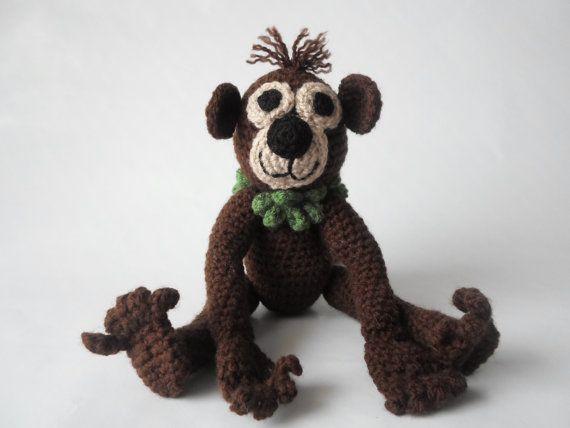 Monkey Amigurumi Crochet Stuffed Toy Animal