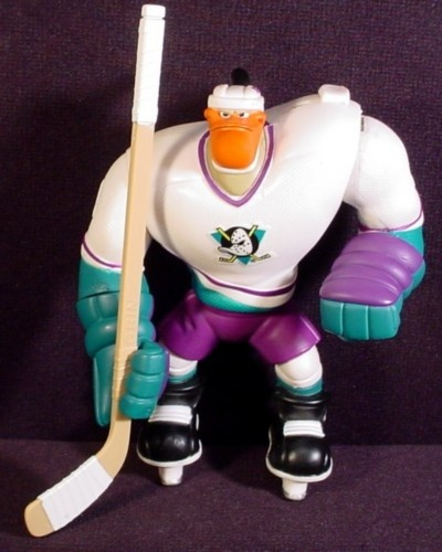 Bodycheck Grin Action Figure From Mighty Ducks Hockey Superstars Series 5.75 Inch 1996